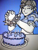 Chun-li's Birthday Cake by TheToonDevil