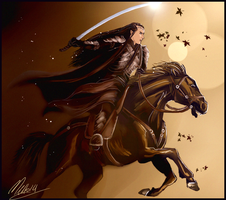 Rider Elrond by MellorianJ