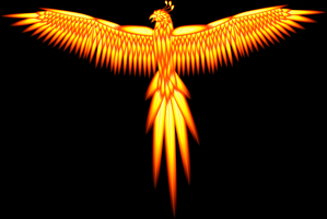 Fire Phoenix - Full Feather by sid-raphael
