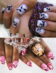 simple flower nail by YEYUniqueNail