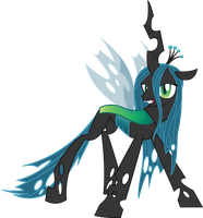Grinning Queen Chrysalis by TecknoJock
