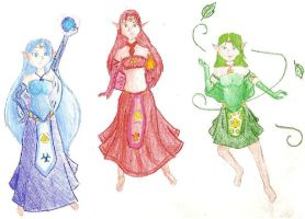 Goddesses of the Triforce by SquirtSapphire