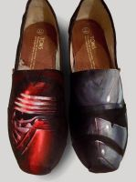 Hand Painted Star Wars toms by dannyPs-customs