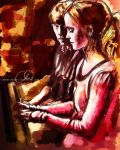 Hermione and Ron - The Piano by Serena-Kenobi
