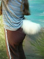 White deer/rabbit tail by LilleahWest