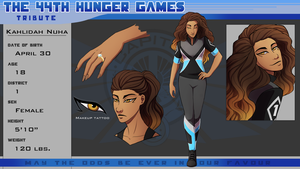 44th Hunger Games: Kahlidah Nuha by Jazz-Rhythm