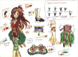 Adeline (Addy) Hikari's redesign by Squireprincess