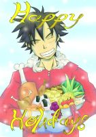 Luffy holiday greeting by pendragon-09