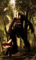 Giant in the woods by Lelia