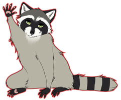 Hello, little racoon :D by whicray