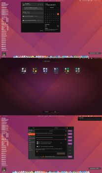 united dark redesign for gnome shell 3.24 by chantrongchien1977