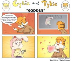 Cybie and Tykie -  Goddess by CyberPikachu