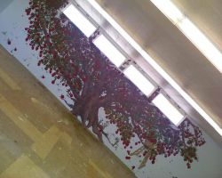 Library Mural Apple Tree by KansasArtist