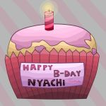 little  b-day gift for Nyachi by MisiaPanda