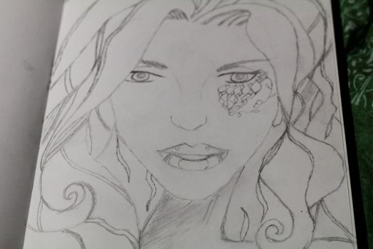 Poison Ivy, Before colouring by Scoomie