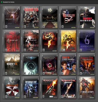 Resident Evil Series by GameBoxIcons