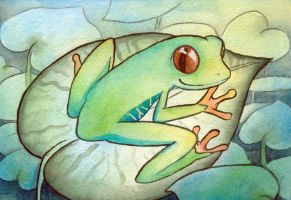 Happy Tree Frog Jeremy by scilk