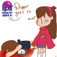 Dipper goes to taco bell cover page my way by FabulousandDumbness1