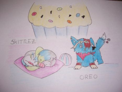 Oreo and Skittlez by animefayinc