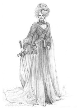 Susan Sto Helit - Discworld Sketch by MyBeautifulMonsters