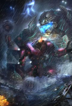PACIFIC RIM-Crimson Typhoon'ss by JUNLING