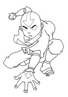Aang - Avatar State by everybodys-fool0101