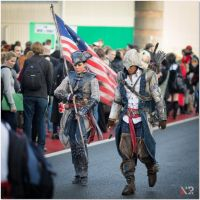 AC III - Connor and Aveline at F.A.C.T.S. 2012-2 by RBF-productions-NL
