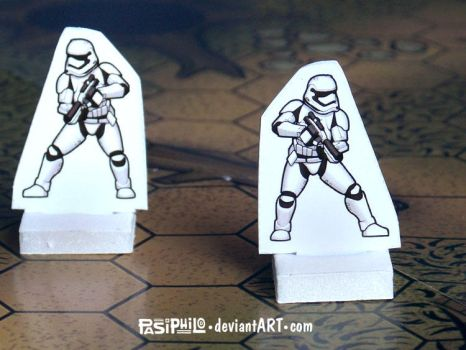 First Order Stormtrooper 28mm RPG Mini (PDF) by Pasiphilo