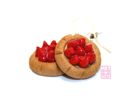 Strawberry Tartlet Earrings by Metterschlingel