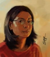 speedpaint selfportrait by supriya05