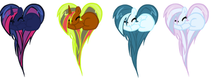 Pony Adopts 3 by BlossomTehKat