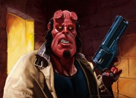 Hellboy by markdraws