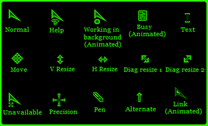 Sharp Cursors (green) by gsergiu