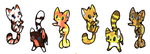 Kitten adoptables (CHEAP) by OneAndOnlyAdopts