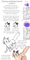 Coloring and lineart tutorial by foxtribe