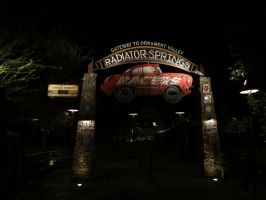 Empty Radiator Springs Racers by techgeekgirl