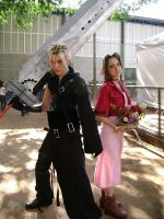 Cloud and Aerith by MishiroMirage
