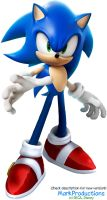 Sonic Wreck-it Ralph render rebuilt by MarkProductions