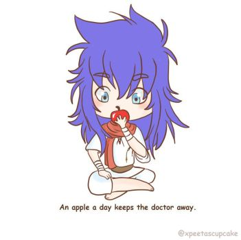 An Apple a day keeps the doctor away by xpeetascupcake