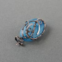 copper brooch with blue agate by WhiteSquaw