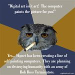 Art Student Owl:  Digital Art by Ulario