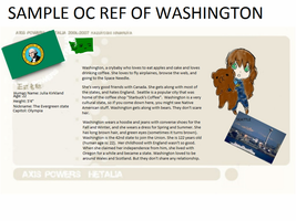 sample ref of my washington oc by Cindy-F-Jones