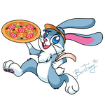 Pizza rabbit by Bestary