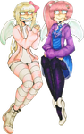 Funky-Intuition Cartoon Couple #2 by x-CherryHime-x