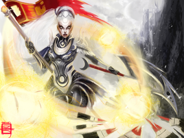 League of Legends Digi-Art Throwdown Diana by Fantaisie-Triste