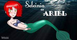 Little Mermaid III - Sel as Ariel (Crossover#1) by Wikcia666