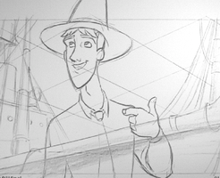 Curious George Pencil Test by tombancroft
