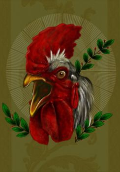 Rooster by guinhotattoo