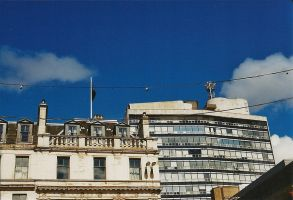Houses and blue sky by mnphoto