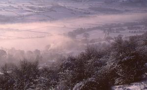 mist over severn valley by J-Philip